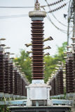 Lightning conductor at the power station Stock Photo
