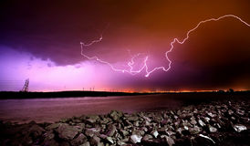 Lightning Crashes Royalty Free Stock Images