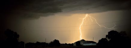 Lightning Crashes Royalty Free Stock Photo