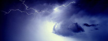 Lightning. Crawler web cloud to air lightning stock photography
