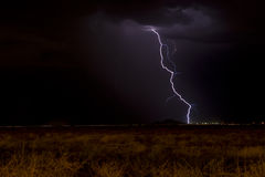 Lightning and dark sky Royalty Free Stock Photography