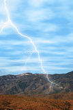 Lightning in the Desert. Lightning striking in the desert mountains. Shot with Canon 20D royalty free stock photos