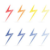 Lightning different colors. Raster Stock Photography
