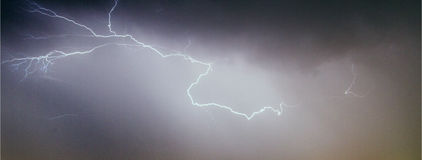 Lightning discharge Stock Image
