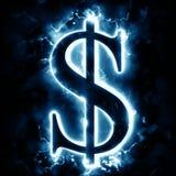 Lightning dollar sign Stock Image