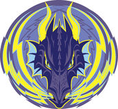 Lightning Dragon Emblem Royalty Free Stock Photo