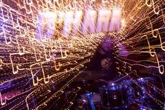 Lightning Drummer Royalty Free Stock Image