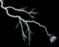 Lightning and earth Stock Photography