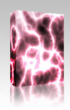 Lightning electricity background box package Royalty Free Stock Images
