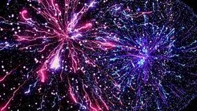 Lightning explosion, flashing light impulses on black background, seamless loop. Animation. Energy explosion
