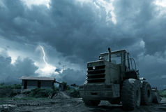 Lightning field Stock Photo