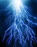 Lightning flash. On black background Royalty Free Stock Photo