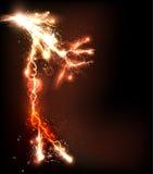 Lightning flash background. Easy editable Stock Photography