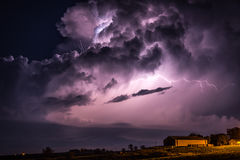 Lightning Flash. Illuminates the inside of a large storm cloud Royalty Free Stock Images