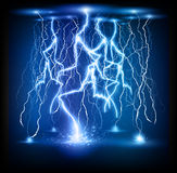 Lightning flash strike background Stock Photo