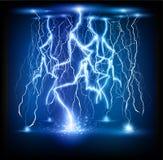 Lightning flash strike background Stock Photo