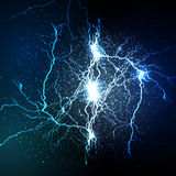 Lightning flash strike background Royalty Free Stock Image