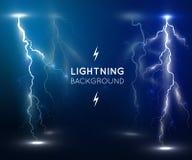 Lightning flash strike background Royalty Free Stock Photos
