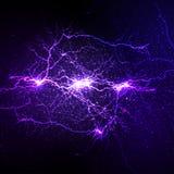 Lightning flash strike background Royalty Free Stock Photo
