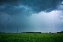 Lightning flashes Royalty Free Stock Image