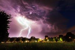 Lightning flashes Royalty Free Stock Image