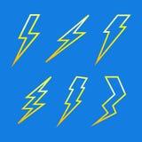 Lightning from the framework Stock Images