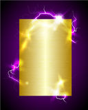 Lightning golden background. Vector golden background with discharge Royalty Free Stock Photos