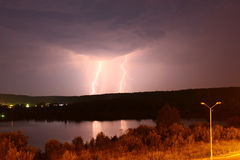 Lightning in the ground Royalty Free Stock Photos