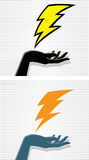 Lightning hand Stock Photos