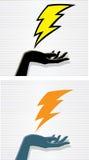 Lightning hand Stock Photos