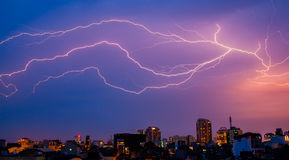Lightning in Hanoi Stock Photos