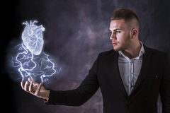 Lightning And Heart Royalty Free Stock Image