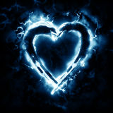 Lightning heart Stock Image