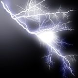 Lightning High Branching Flash royalty free illustration