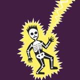 Lightning hit the man cartoon vector illustration. Lightning hit the man. Colorful hand drawn cartoon vector illustration Stock Photography