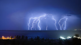 Lightning hits Royalty Free Stock Image