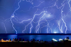 Lightning hits Royalty Free Stock Photos