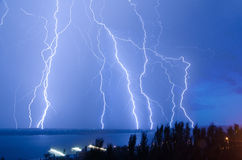 Lightning hits Stock Photo