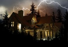 Lightning Home Protection Royalty Free Stock Images