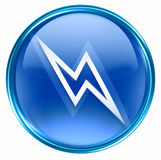 Lightning icon blue Stock Photos