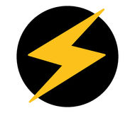 Lightning Icon Design Royalty Free Stock Photography