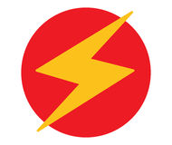 Lightning Icon Design Royalty Free Stock Photos