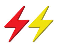 Lightning Icon Design Stock Images
