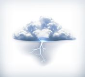Lightning icon Royalty Free Stock Photography
