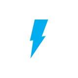 Lightning icon isolated on white background. Vector illustration. Lightning icon isolated on white background. Vector illustration Stock Photos