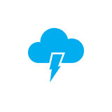 Lightning icon isolated on white background. Vector illustration Stock Images
