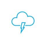 Lightning icon isolated on white background. Vector illustration. Lightning icon isolated on white background. Vector illustration Royalty Free Stock Photo