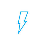 Lightning icon isolated on white background. Vector illustration. Royalty Free Stock Photography