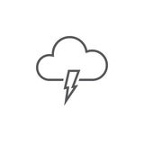 Lightning icon isolated on white background. Vector illustration. Lightning icon isolated on white background. Vector illustration stock illustration