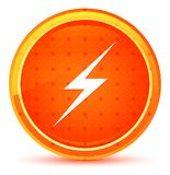 Lightning icon natural orange round button. Lightning icon isolated on natural orange round button royalty free illustration